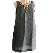 Vestito Hanita Puro lino marrone L vestitino blusa donna