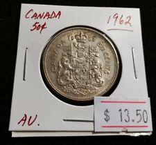 Canada 1962 50 cents QEII Very Nice Silver Half Dollar Coin (#J96)