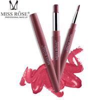 Women Double Head Waterproof Pencil Lipstick Matte Pen Lasting Lip Liner Pen