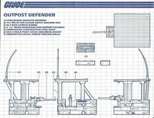 GI Joe Outpost Defender Gun Plateforme Barricade Vintage partie 1986 livraison gratuite