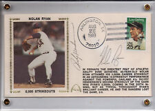 NOLAN RYAN AUTOGRAPHED GATEWAY 5,000 STRIKEOUTS with RICKY HENDERSON