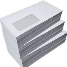 1000 Briefumschläge weiß Fenster 114x229 mm 80g/m² ASK Kuvert Büromaterial C6/5
