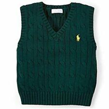 Ralph Lauren Baby Strick Pullunder dunkelgrün Polo Reiter Logo eingestickt 62