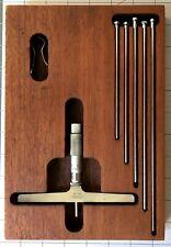 Vintage Lufkin Micrometer Depth Gage Set No 515 Excellent