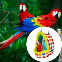 Sleep Bird Hut Toy Cotton Nest Pet Hammock Hang Cave U Tent Cage Bed Parrot Q1S6