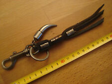 Porte cle biker porte clef motard style Harley Indian lanieres cuir dent metal
