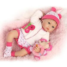 Handmade Real Life Looking 55cm Vinyl Silicone Cotton Reborn Baby Doll
