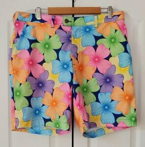 "LOUDMOUTH Men's Golf Shorts POPPYCOCK FLORAL Print, SIZE 37 x 9"" Inseam"