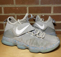 Nike Lebron 14 XIV Mag Marty McFly Size 9 Sneakers Back To The Future Shoes