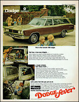 1968 Dodge Coronet 500 wagon car family kids vintage photo print Ad adL97