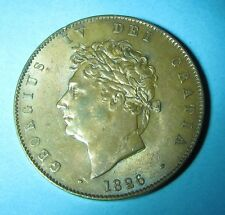 1826 George IV  Half Penny 1/2d Incuse Line on Saltire Light Tone High Grade GB