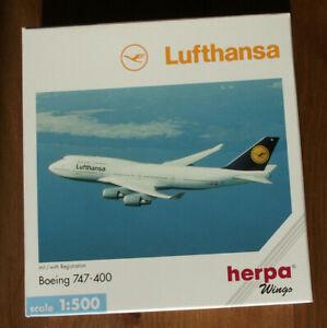 """HERPA 516105 1:500: Boeing 747-400 """" LUFTHANSA (D-ABTC) """" OVP"""
