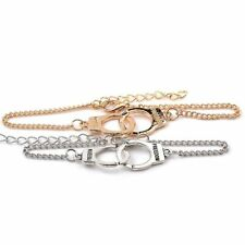 2pcs Freedom Handcuff Bracelet Set Gold & Silver Couples Pair Partners in Crime