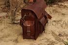 """Leather Vintage Bag Messenger Laptop School Shoulder Men Satchel Briefcase 15"""""""