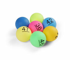 Numbered Ping Pong Table Tennis Balls 40mm Lottery Numbers 1-50 (Pack Of 50)
