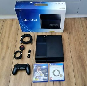 Sony PlayStation 4 PS4 500GB Black Console with Controller + 2 Games