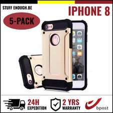 5IN1 Gold Armor Cover Cas Coque Etui Silicone Hoesje Case Or For iPhone 8