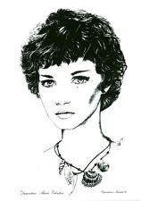 Publicité ancienne photo dessin femme coiffure mode B. Valentini 78/79 no 31