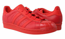 adidas Superstar Glossy Toe Sneakers-Size 9 Men's/Size 11 Women's Ray Red