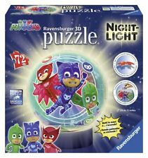 Ravensburger 11773. Los Pijamas. Puzzle lámpara 3D con luz de 72 piezas. 13cm