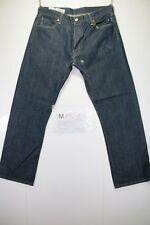 levi's 501 boyfriend (Cod. M1521) tg50 W36 L34 orlo rifatto jeans usato vintage