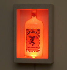 Fireball Whiskey Sconce LED Bottle Lamp Shadow Box Color Changing Bar Light Pub