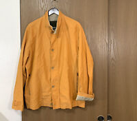 Henry Cotton's Mens Jacket Size 54 Full Zip Pockets Orange Work Chore Ban
