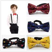 Baby Child Boys Kid Pre Tied Bow Tie Necktie Suits Formal Wedding Party Bowtie