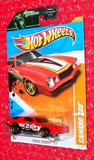 2011 Hot Wheels Track Stars Camaro Z28  on Green Lantern card  T9757-09GN