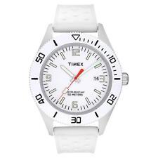 Runde Timex Armbanduhren aus Kunststoff mit Datumsanzeige