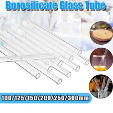 AU 10-20Pcs 200/250/300mm Borosilicate Tubing Glass Pyrex Blowing Tube La