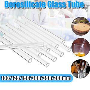 AU 10-20Pcs 200/250/300mm Borosilicate Tubing Glass Pyrex Blowing Tube Lab Test