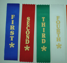 1ST - 4TH PLACE AWARD RIBBONS FOR CLUBS,EVENT,SCHOOLS
