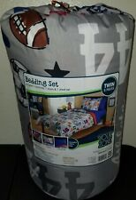 New twin 5 piece football bedding set