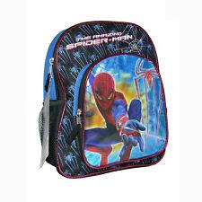 "MARVEL Heroes The Amazing SPIDER-MAN School 12"" BACKPACK BOOK BAG Kids Boys NWT"