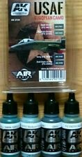 AK Interactive USAF European Camo Colours Acrylic Paint Set For Models