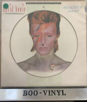 DAVID BOWIE - ALADDIN SANE 1984 UK RCA PICTURE DISC LP - EX / EX