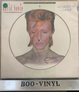 DAVID BOWIE - ALADDIN SANE 1984 UK RCA PICTURE DISC LP - EX / EX