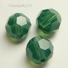 12x SWAROVSKI 5000 PALACE GREEN OPAL 6mm ROUND CRYSTAL