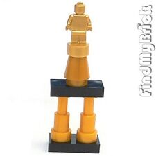 U030C Lego Minifigure Metallic Gold Trophy Statuette with Pearl Gold Stand - NEW