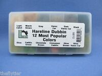 ORIGINAL Hareline Hare's Ear Dub Dispenser - 12 Dubbing Colors fly tying