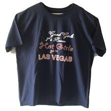 Good Girls Go To Heaven Hot Girls Go To Las Vegas Mens Tshirt Blue NWOT
