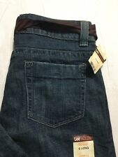 Lee One True Fit Jeans Size 6 Long Bootcut Low Waist Stretch Denim Close Fit NWT