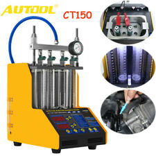 Autool Ct150 Car Fuel Injector Cleaner Tester 4 Cylinders Ultrasonic Nozzle 110v