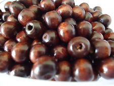 100 x Dark Brown Color Wooden Spacer Beads  8x7mm, 3mm Hole(B18804)