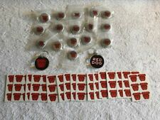 (34) Items Miller Brewing Red Dog Beer Tatoos - Blinking Buttons- Key Chains