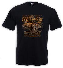 Hot Rod T-Shirt Outlaw Vintage V8 Rockabilly Tattoo Pinup Rat