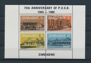 LN23102 Zimbabwe 1980 savings bank post office good sheet MNH