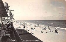 1949 RPPC Bathing Beach Delray Beach FL
