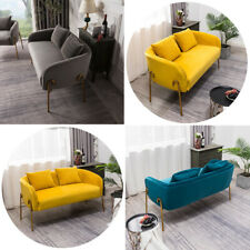 1+2 Seater Velvet Corner Love Seat Sofa Settee Armchair Set Pleated Padded Sofas